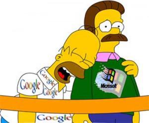 Google se hizo la burla de MS