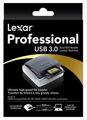 Lexar | Nuevo lector de tarjetas CF/SD con conectividad USB 3.0