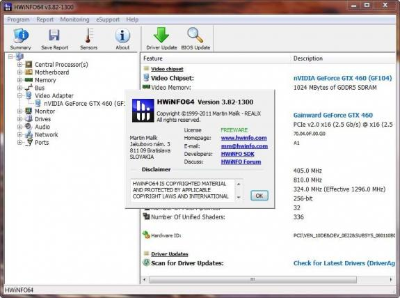 REALiX | HWiNFO32 y HWiNFO64 se actualizan a la versión 3.82