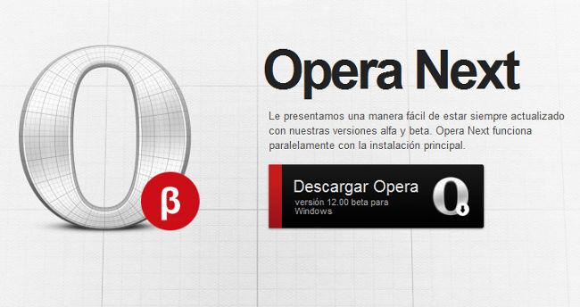 Descargar Opera 12 Beta