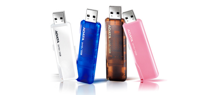 ADATA Launches DashDrive UV110 Colorful Flash Drives Nuevas unidades USB Flash DashDrive UV110 de ADATA