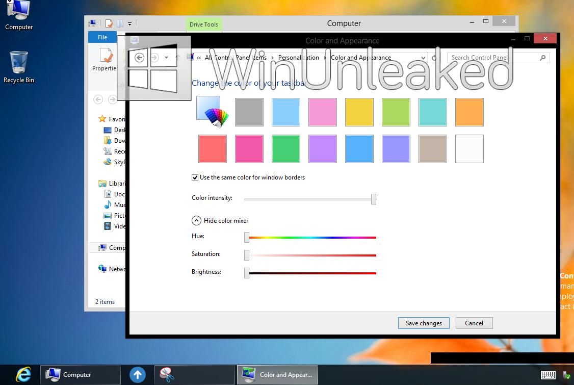 Windows 8 s No Aero Desktop Interface Leaks 4 Microsoft | Imágenes de Windows 8 sin Aero Glass filtradas