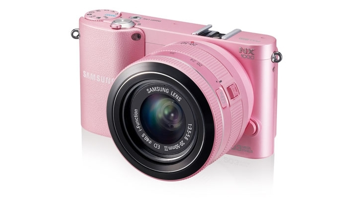 Samsung Releases Pink NX1000 Digital Camera in SK 1 Samsung lanza su cámara digital NX1000 en color rosa