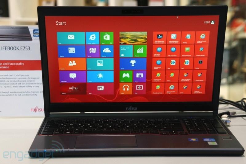Fujitsu presento sus laptops Lifebook E en la CeBIT 2013