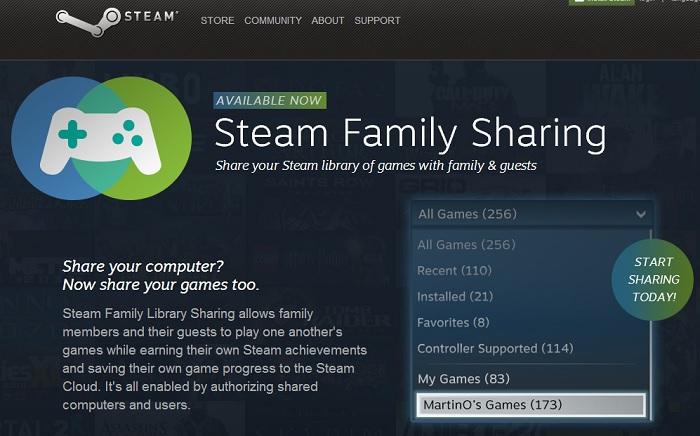 Steam Family ahora está disponible para todos los usuarios
