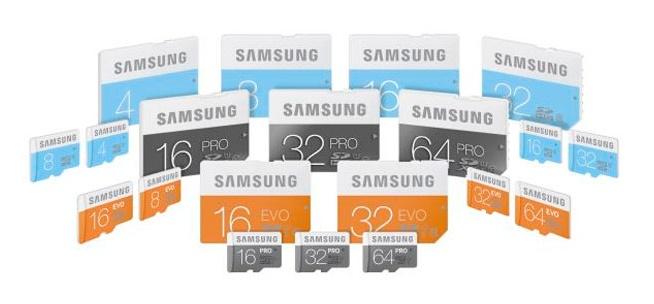 Samsung PRO EVO y STANDAR