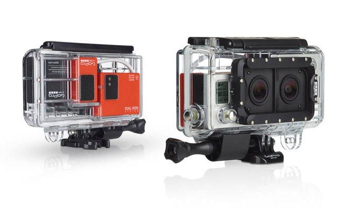 Carcasa GoPro Dual Hero permite la grabación de vídeo en 3D