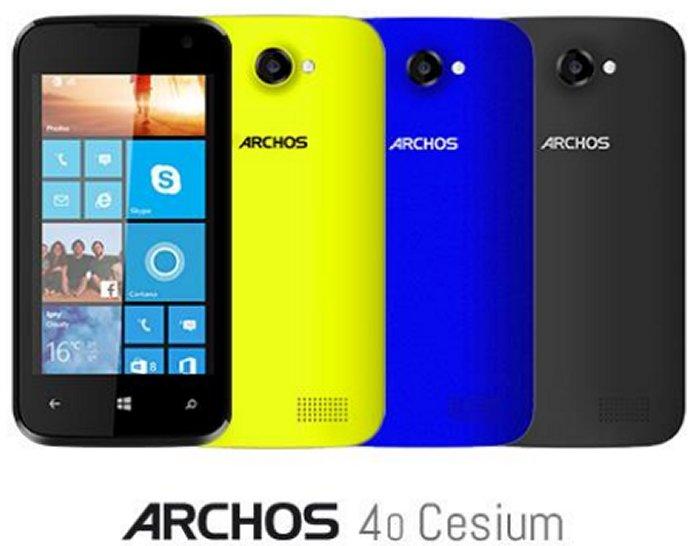 Smartphone Archos 40 Cesium con Windows Phone 8.1 presentado