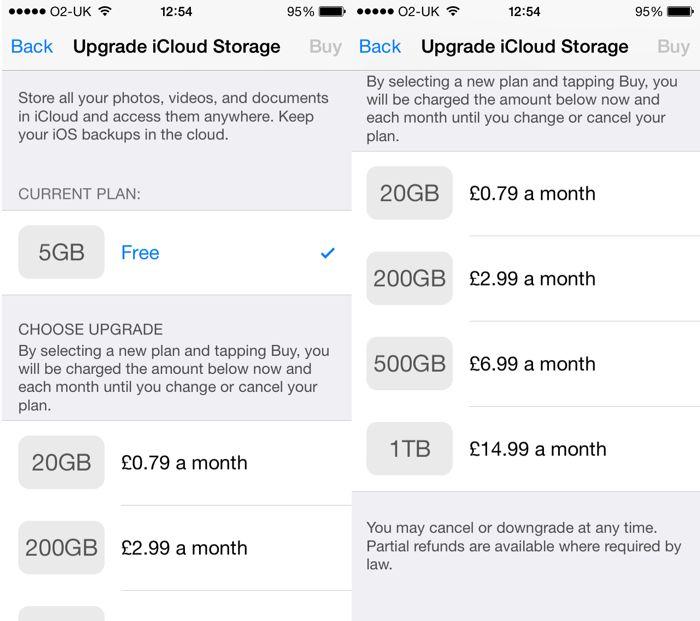 Apple ofrece ahora un almacenamiento en iCloud más barato