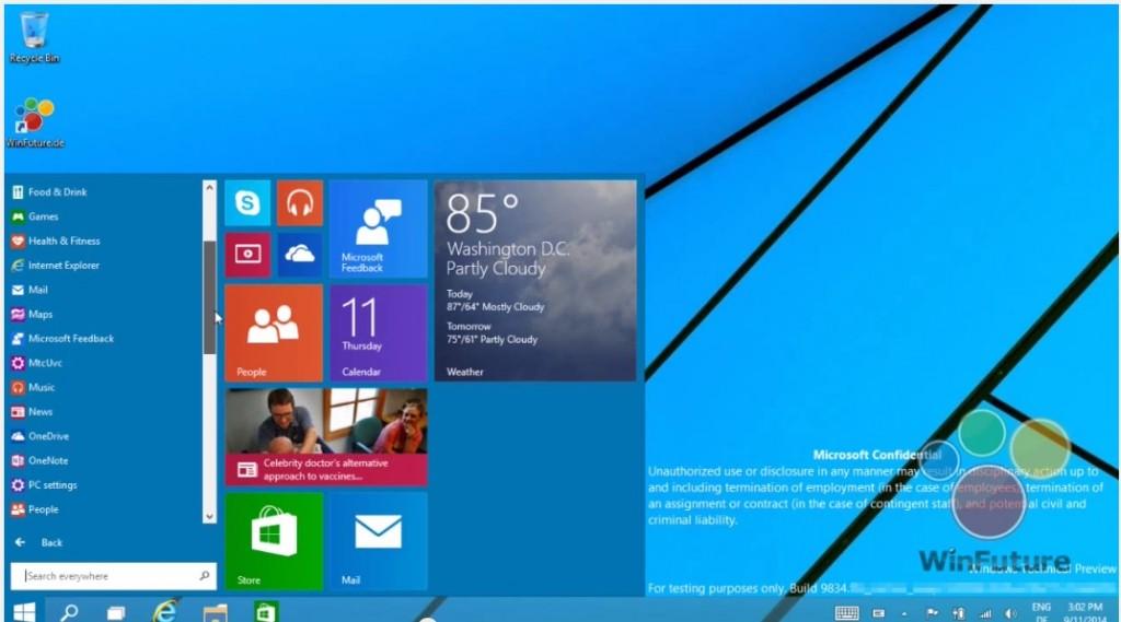 Nuevos videos muestran la interfaz de Windows 9