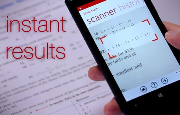 Nueva App PhotoMath resuelve ejercicios matemáticos con solo tomar una foto