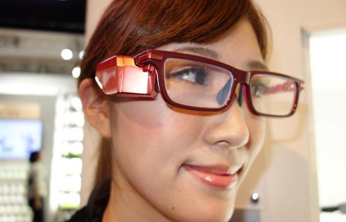 Prototipo Toshiba Glass Eyewear exhibido en CEATEC en Japón