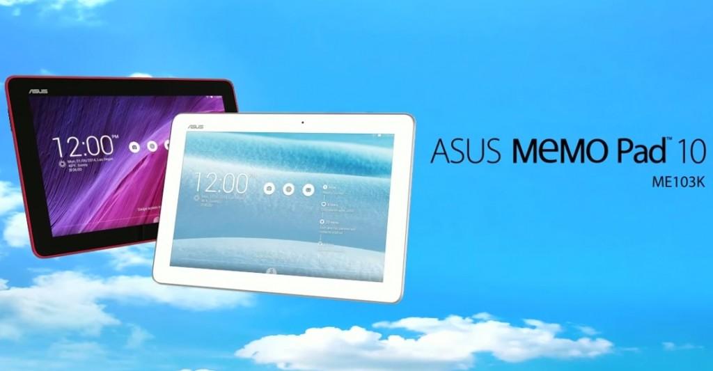 Tablet Asus MeMO Pad 10 lanzada
