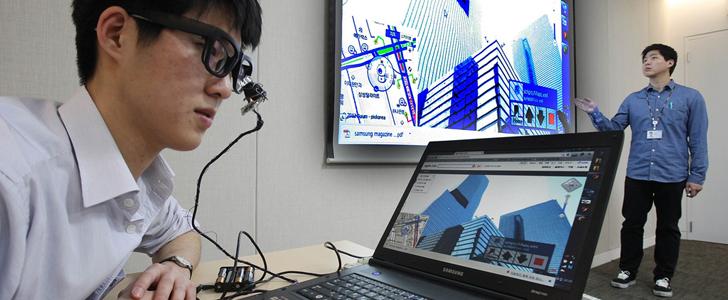 Samsung EYECAN+ es un mouse controlado por los ojos