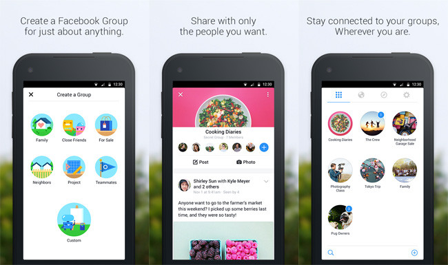 groups Facebook Groups llega a Android e iOS