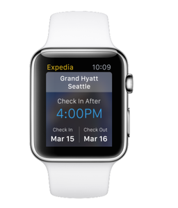 Expedia para Apple Watch