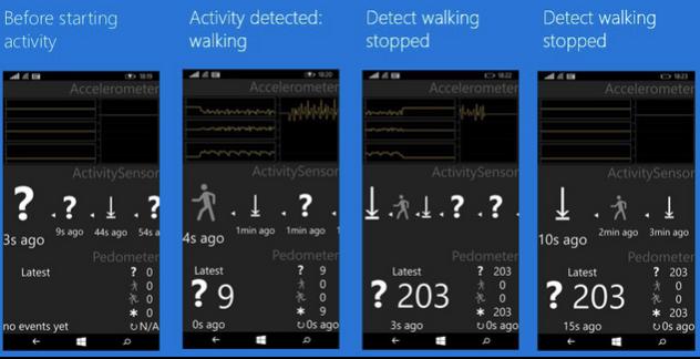 Sensores de seguimiento Windows 10 para moviles