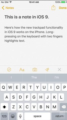 teclado QuickType iOS 9