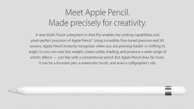 iPad Pro Apple Pencil 2015