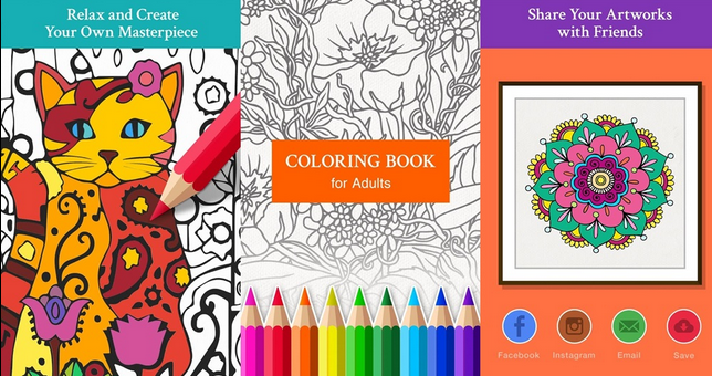 Free Coloring Book for Adults 2015