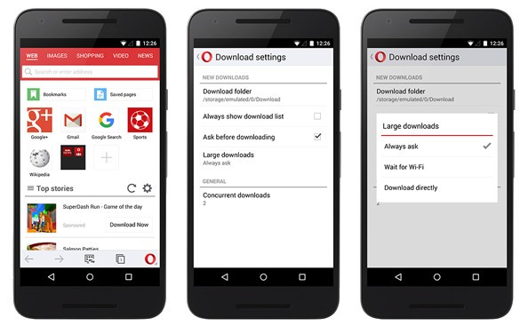 Opera Mini Android 2015